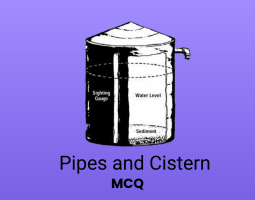 Pipes and Cistern MCQ