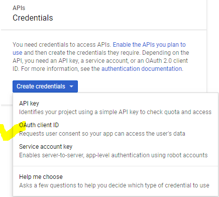 oauth client select